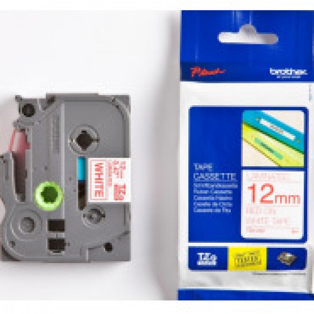 Картридж к этикет-принтеру Brother TZe-232 12ммх8м красн/бел лам P-Touch