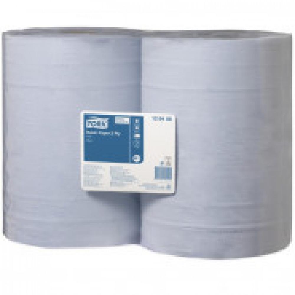 Бумага протирочная Tork W1 2 сл.1000лx2рул/уп голубая 128408