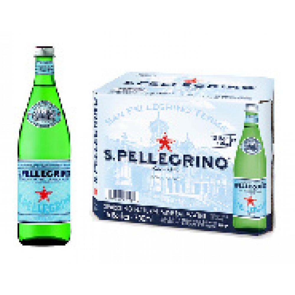 Вода минеральная S.Pellegrino газ.  0,75л ст/бут  15шт/уп.