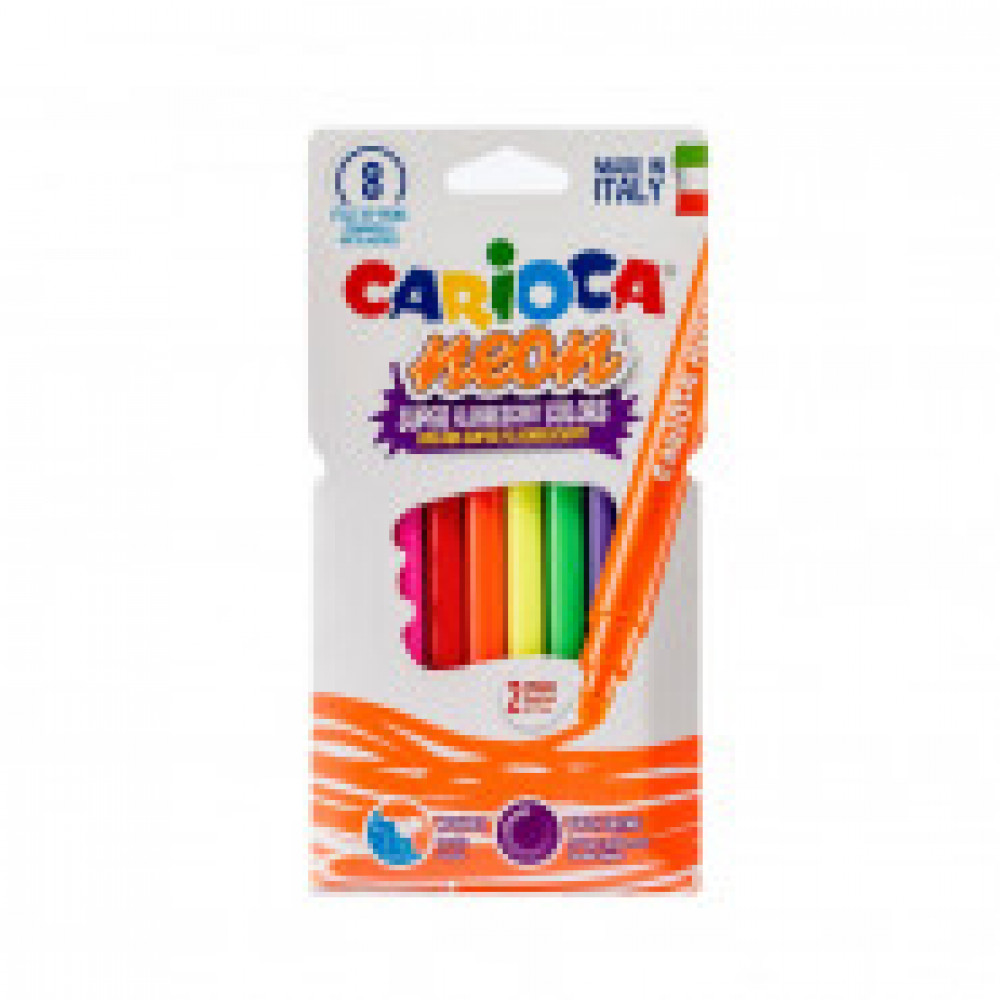 Фломастеры 8цв.,CARIOCA Neon, 42785