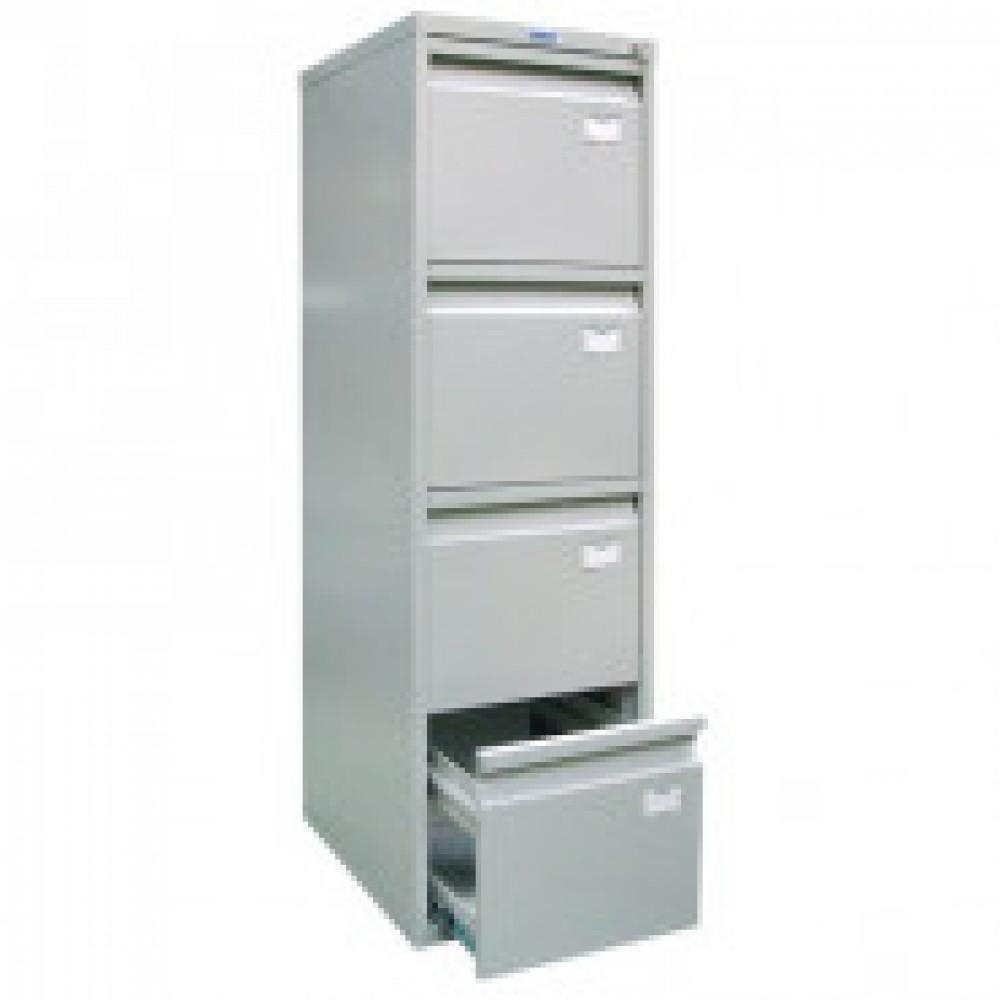 Метал.Мебель ПРАКТИК Картотека медицинская МД А 44 (4 ящика)серый