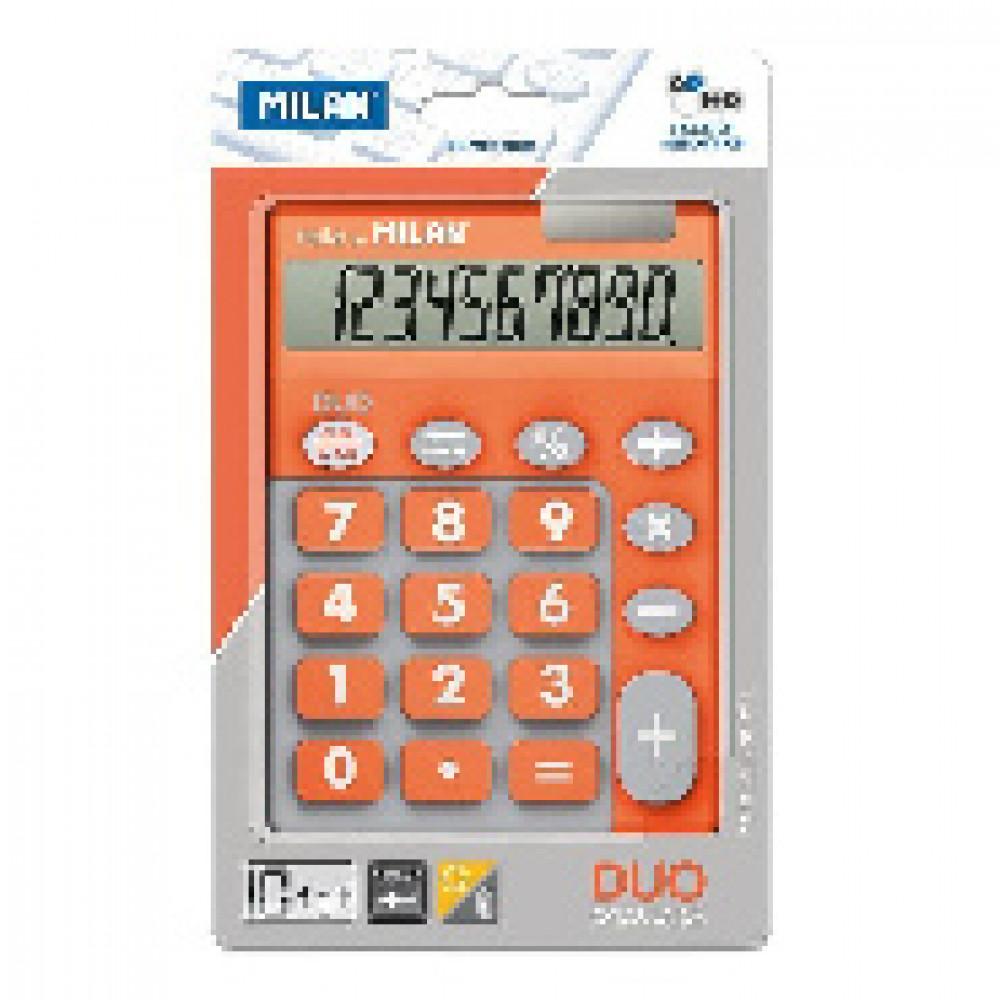 Калькулятор Milan 10-разряд, в чехле, двойное питание, оранжев 150610TDOBL