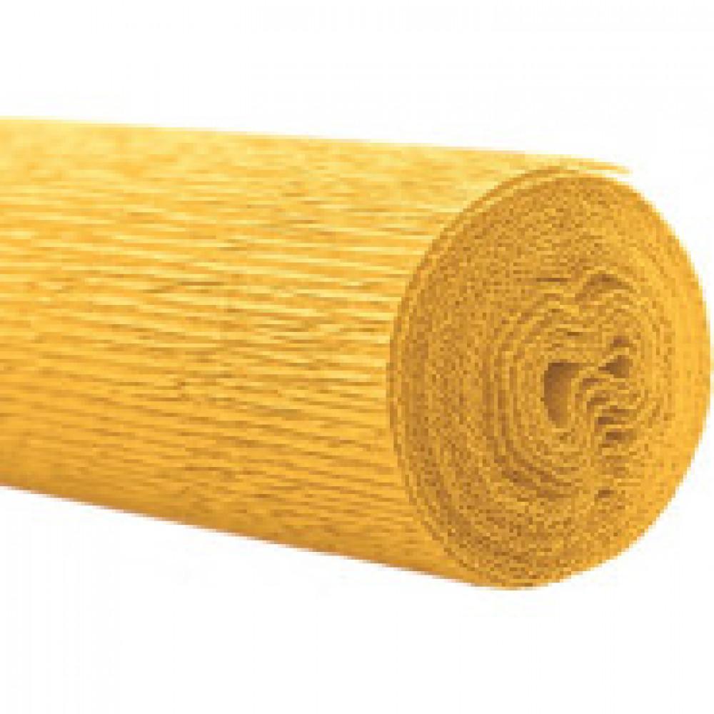 Бумага для творчества крепированная флорист.50x250см,128г/м2,желтая,170504