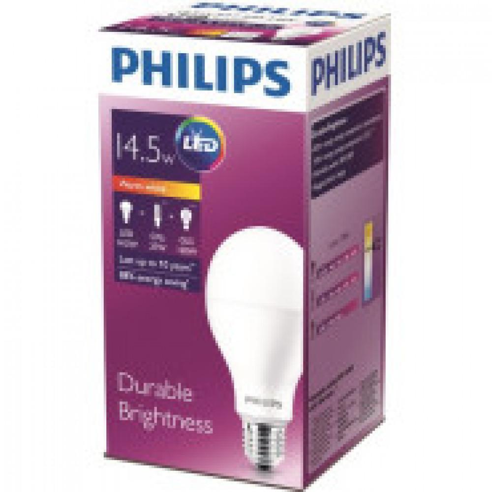 Лампа светодиодная Philips 14.5W E27 3000k тепл.бел. ст.колба