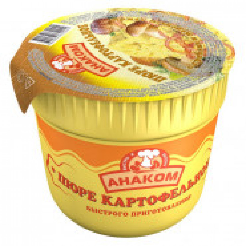 Картофельное пюре Анаком с грибами и жареным луком, 40гх24шт