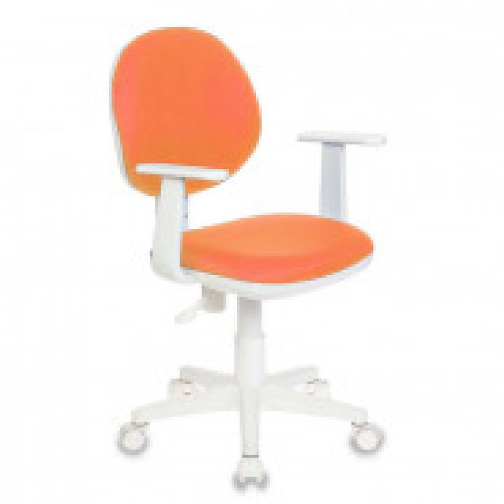 Кресло VB_Детское CH-W356AXSN/15-75 ткань оранж., пластик бел.