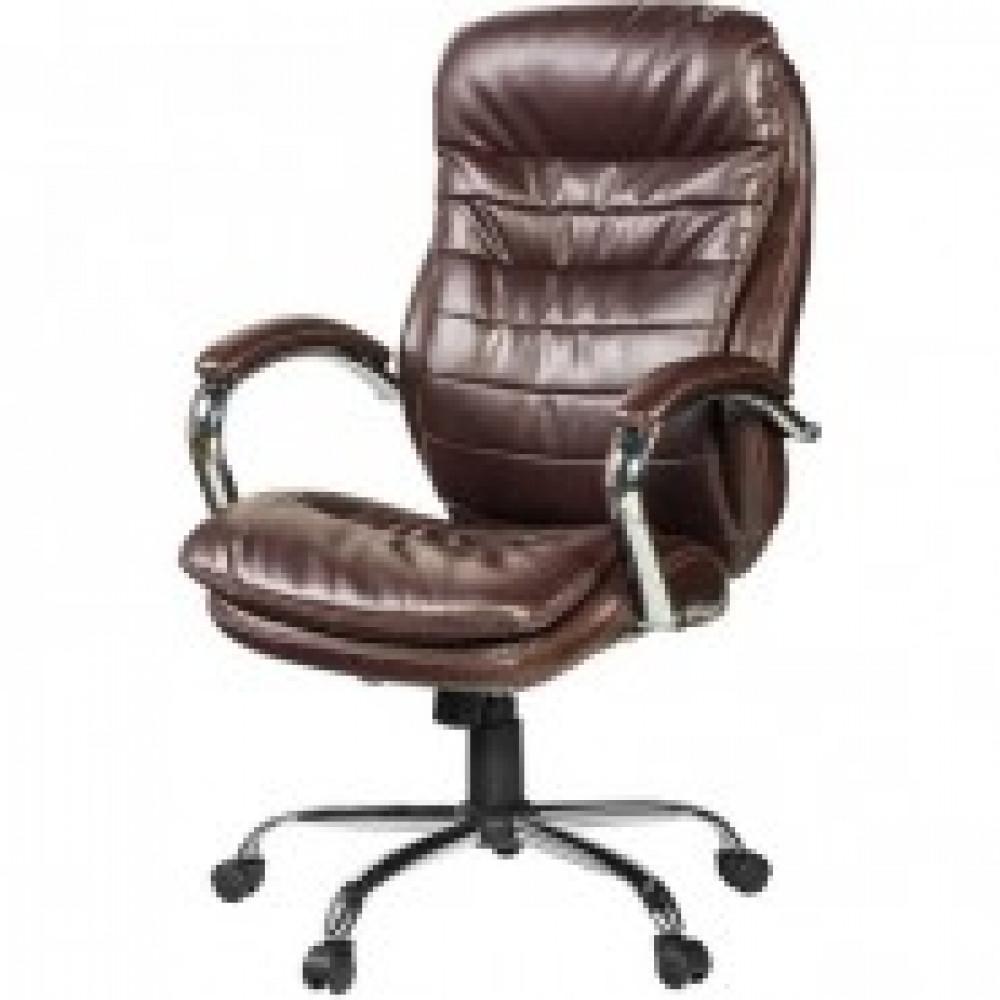 Кресло BN_Dp_Руководителя EChair-515 RT рецикл.кожа корич.,