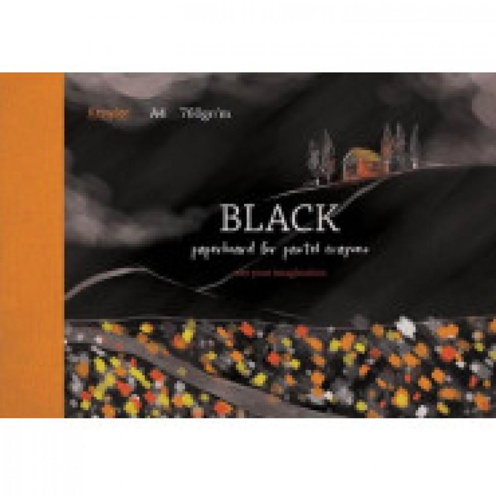 Альбом для рис. пастелью А4 10л,блок черный 760 гр/м, обл.мел. картон 7514