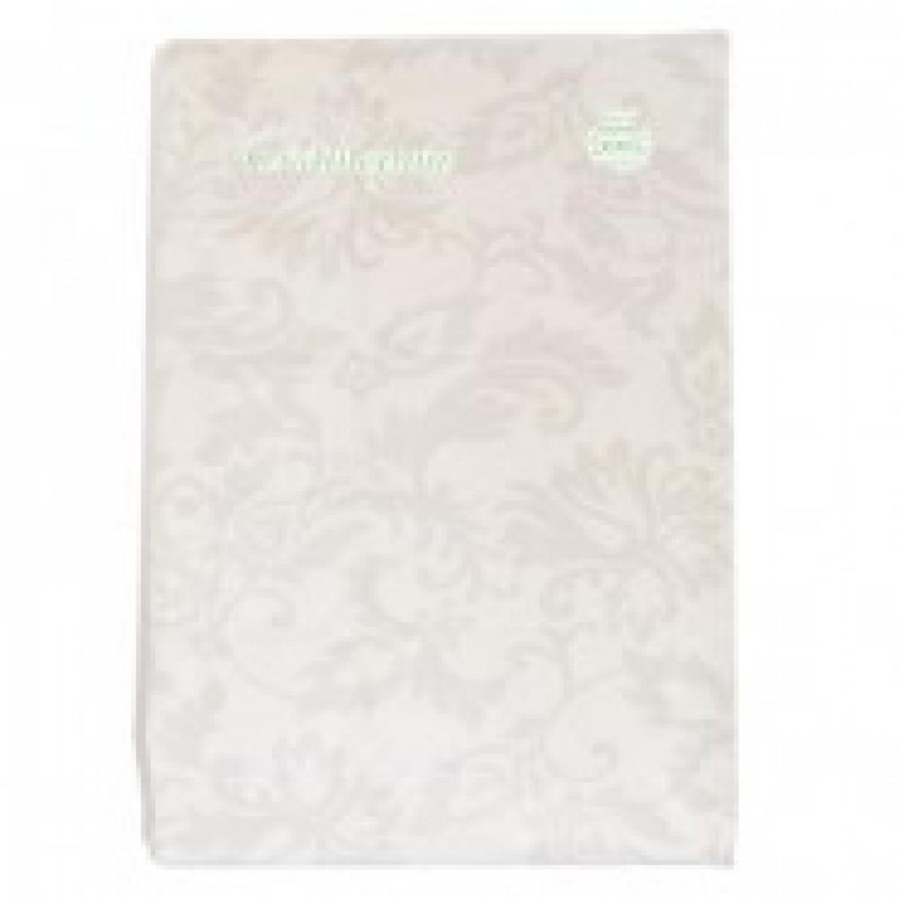Скатерть бумажная Vitto Prestige 120*180 см белая с полимер.покр.