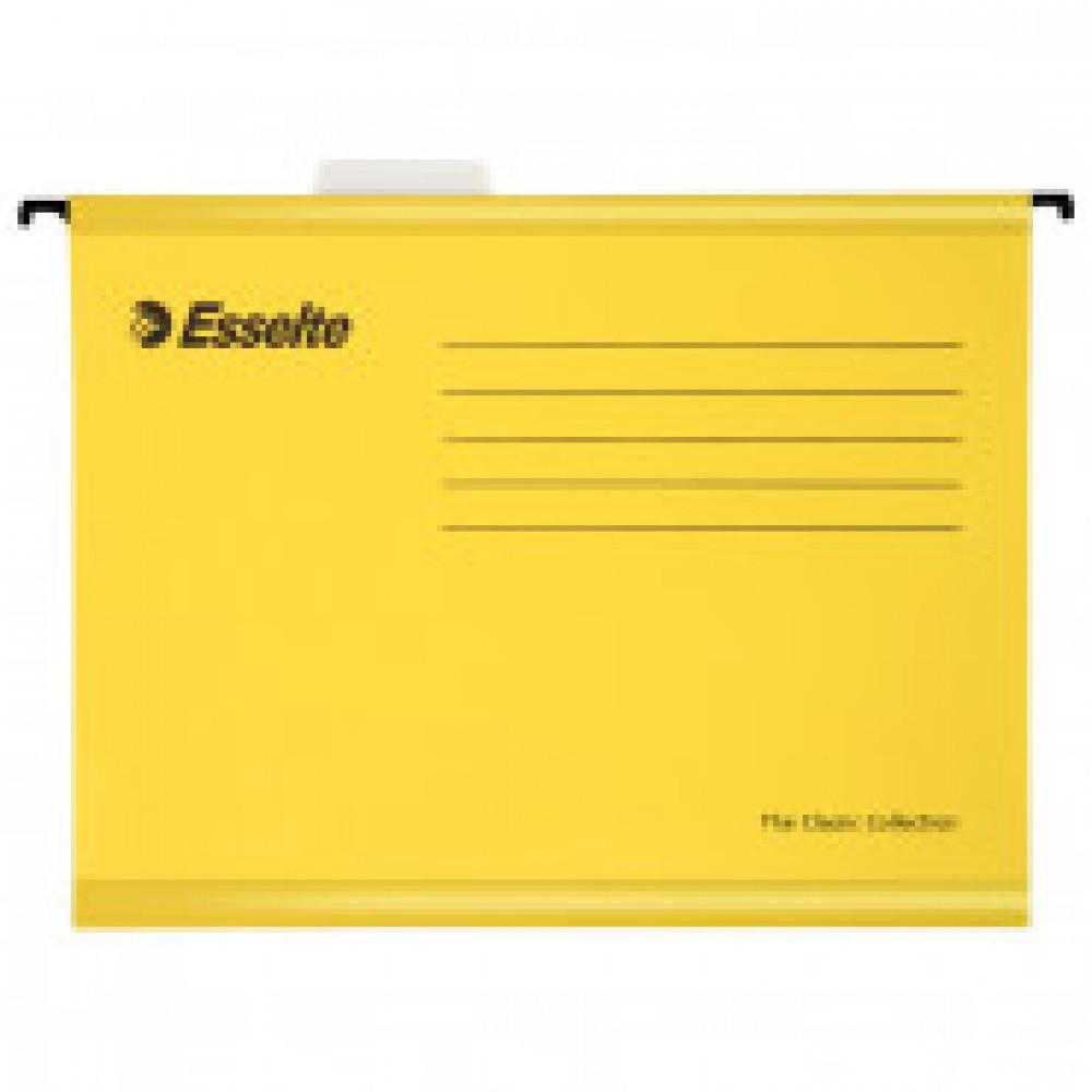 Подвесная регистратура папка Esselte Standart,205 гр,А4,желтый 90314 25 шт