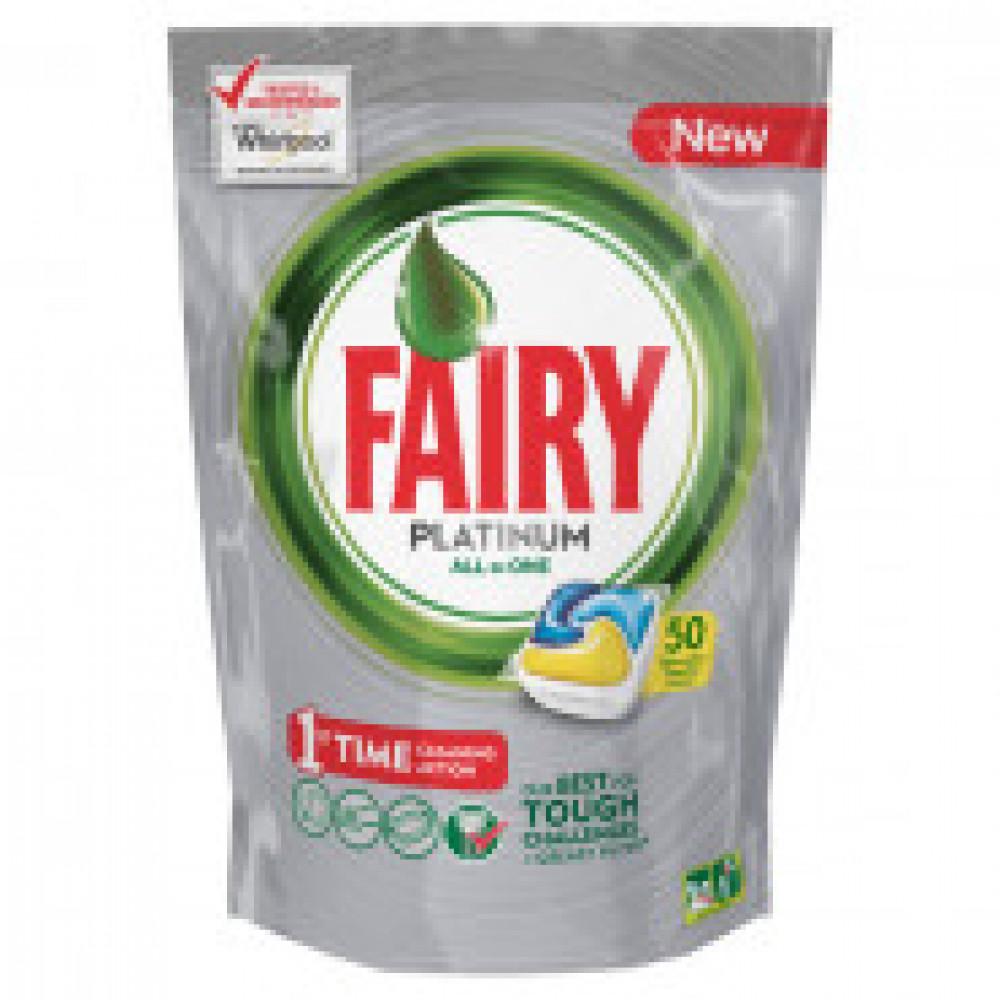 Капсулы д/посудомоечных машин Fairy Platinum All in 1 50шт/уп