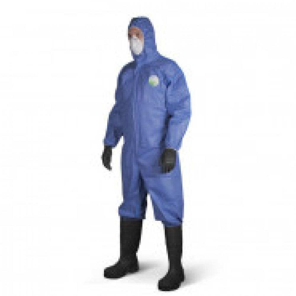 Одноразовая одежда Комбинезон с капюш SafeGard76 синий р-р М (ESB428)