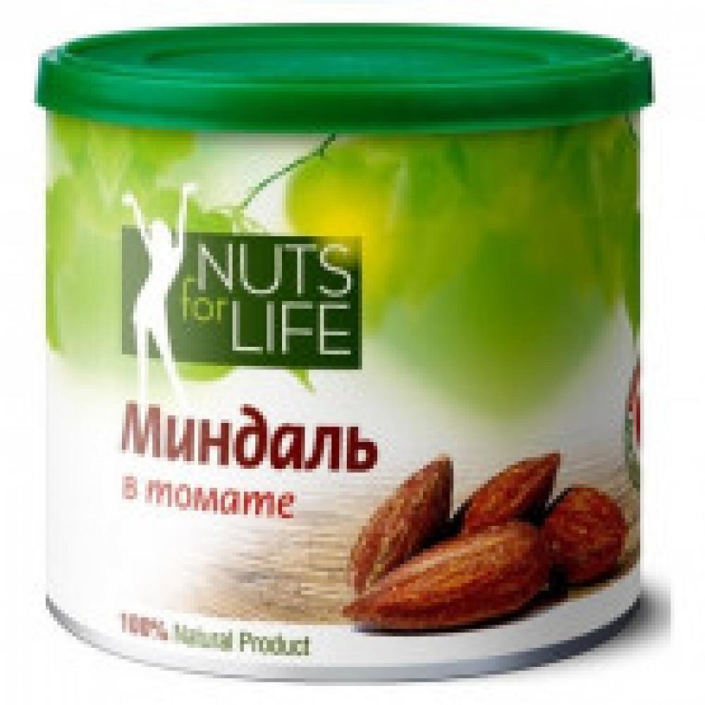 Миндаль Nuts for life обжаренный с томатом, 115г
