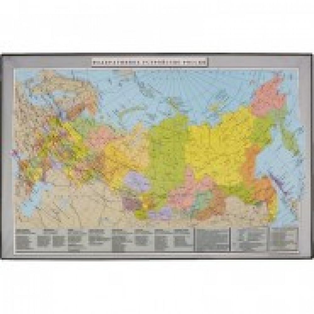 Коврик на стол Attache 38х59см Россия и сопред-е государства черный 2129.2
