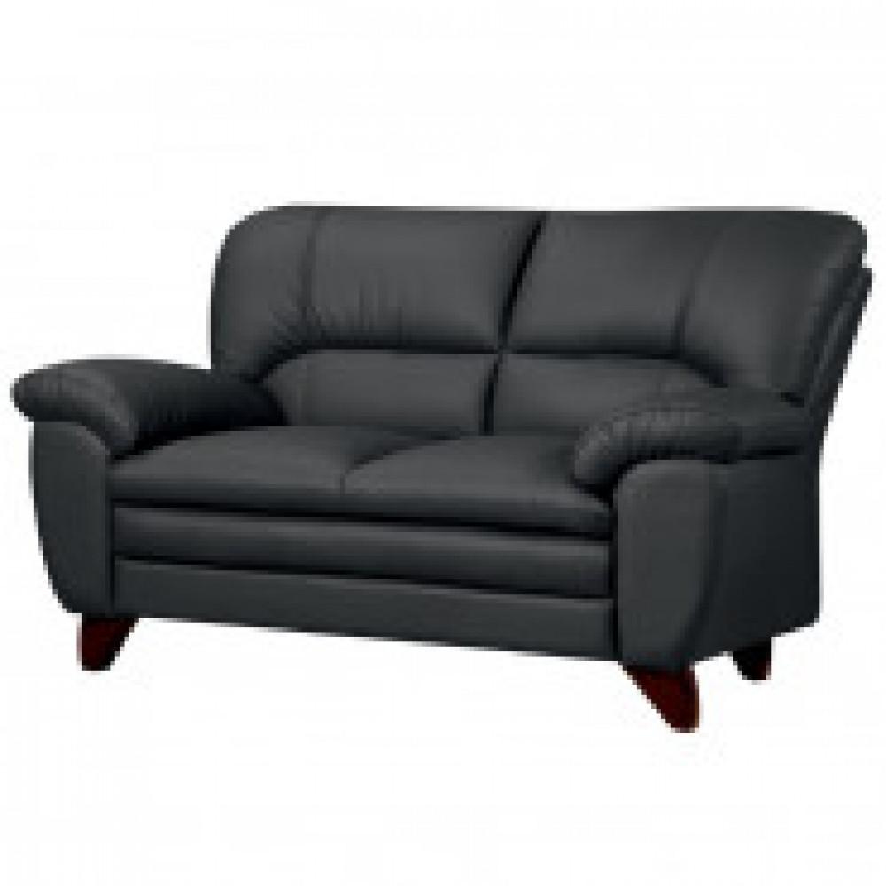 Мягкая мебель EF_ERest_BAYUдиван 2м кож+к/з черный (DIZARO NERO 8500-N)