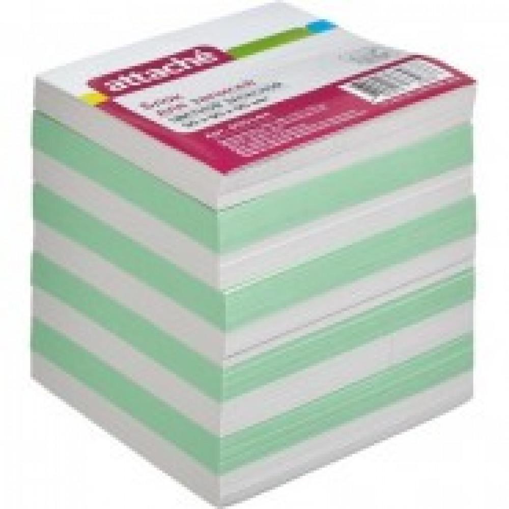 Блок для записей Attache Economy 90x90x90 мм разноцветный (плотность 65-80 г/кв.м)