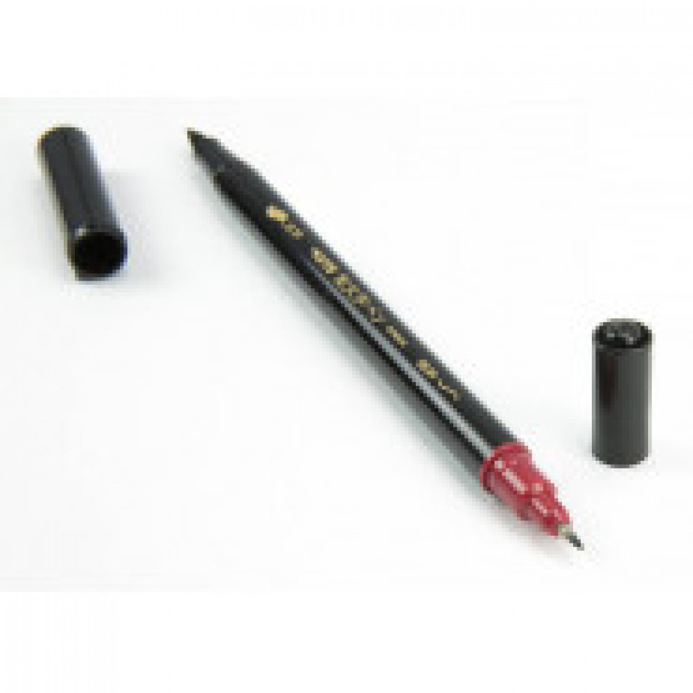 Линер -кисть Pentel двусторонний, 1,2/10,5мм, черный, SFW34A