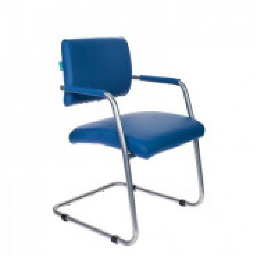 Кресло VB_БЮРОКРАТ CH-271-V каркас цвет хром, к/з синий OR-03