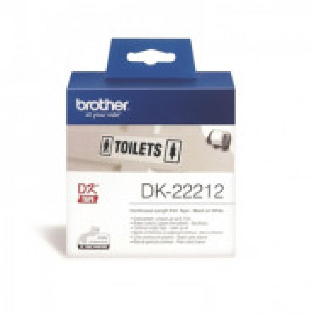 Картридж к этикет-принтеру Brother DK22212 16ммх15,24м пленочная для QL
