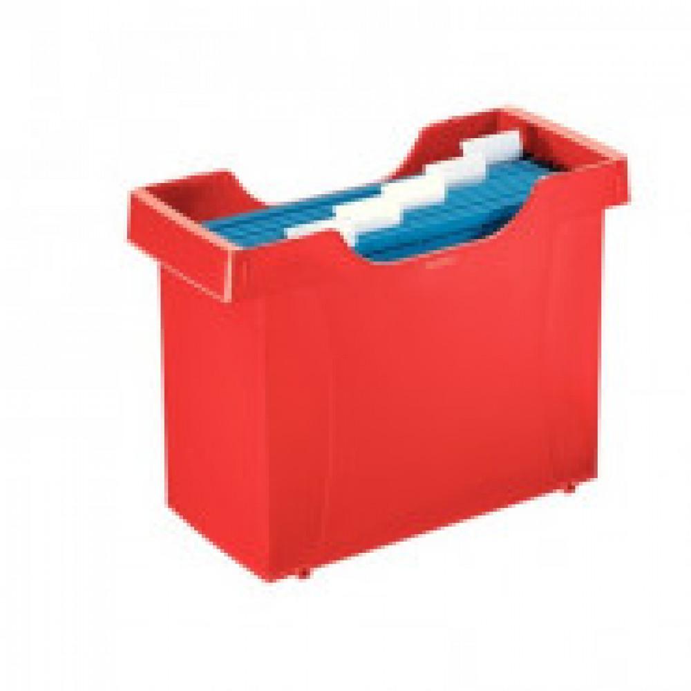 Бокс для подвесных папок Leitz Plus А4 пластиковый красный (нескладной)