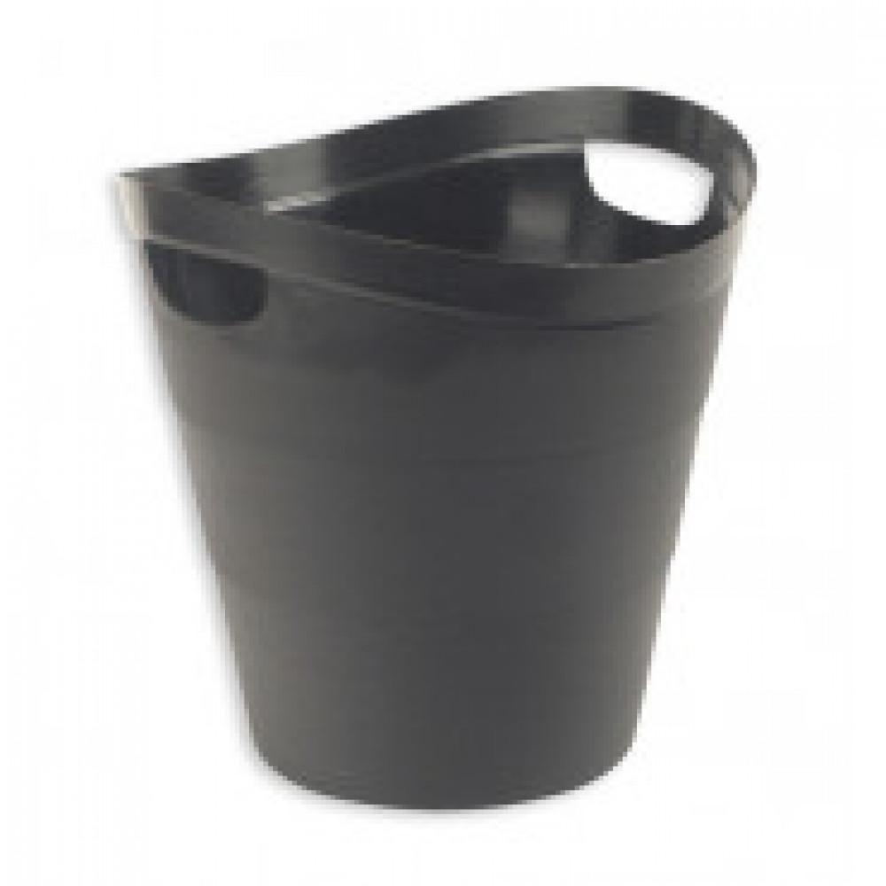 Корзина офисная 12л пластик, черная с ручками Uniplast КХУ-10