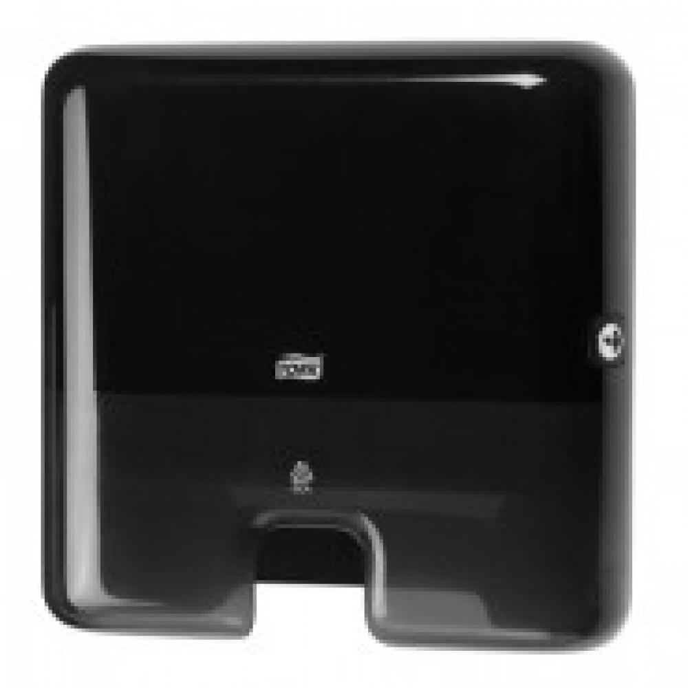 Диспенсер для листовых полотенец Tork Xpress Mini H2 пластиковый черный (код производителя 552108)
