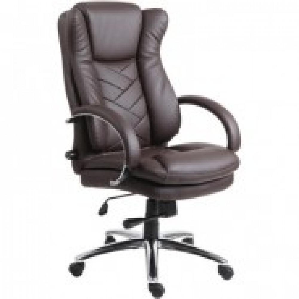 Кресло BN_Dt_Руководителя Echair-541 TL кожа коричн., хром