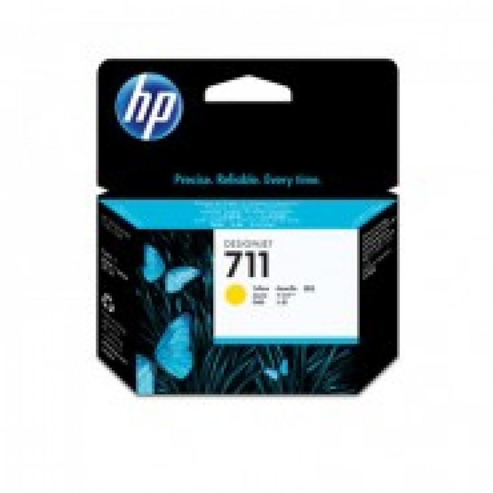 Картридж струйный HP 711 CZ132A жел. для DgnJ T120/520