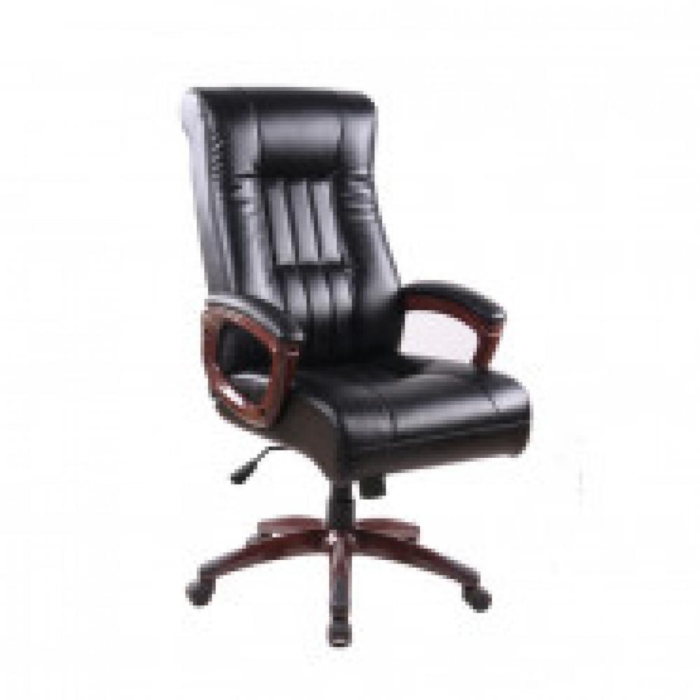 Кресло BN_Dp_EChair-635 TR, рециклированная кожа черная, пластик