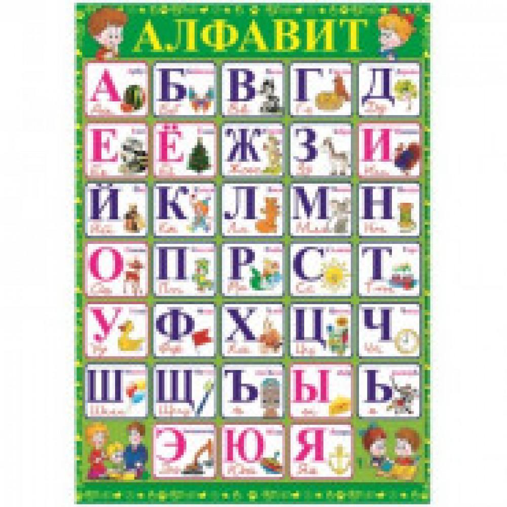 Плакат Алфавит, 490х690, 19016