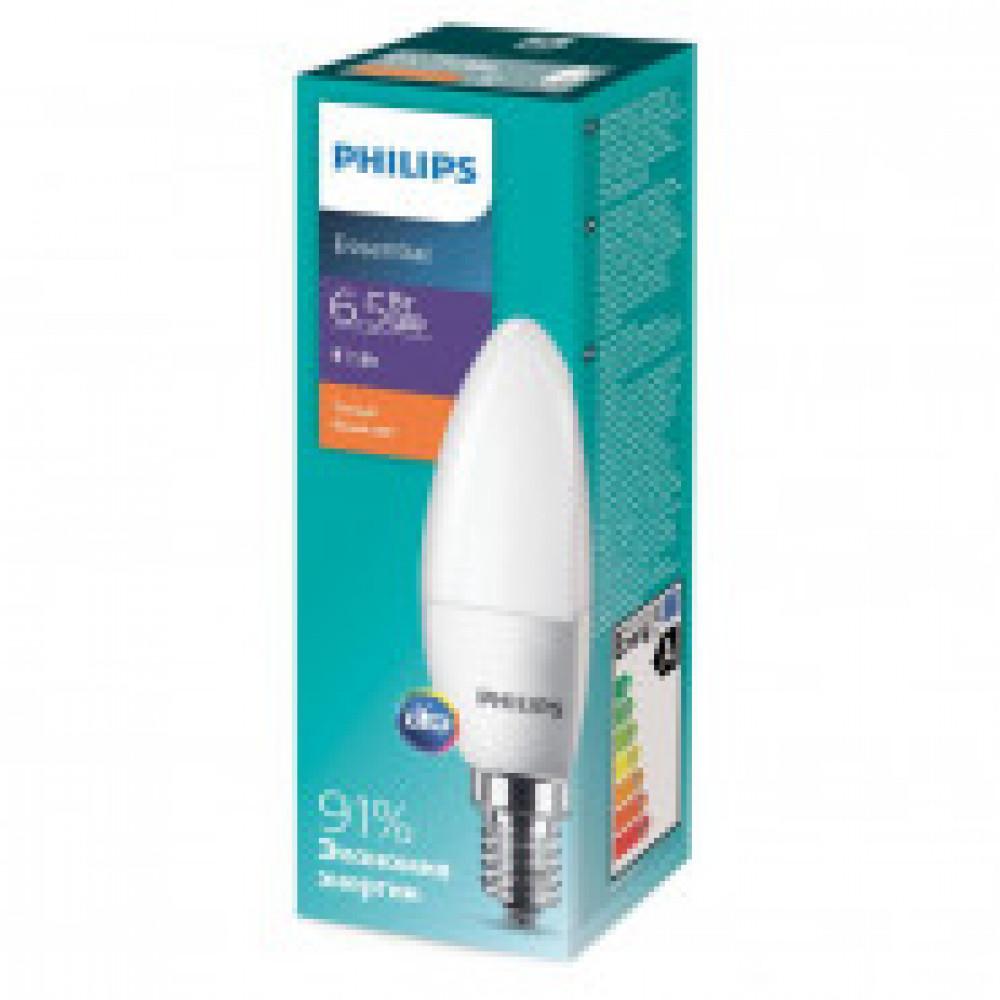Лампа светодиодная Philips  ESS LEDCandle 6.5-75W E14 827 B35ND