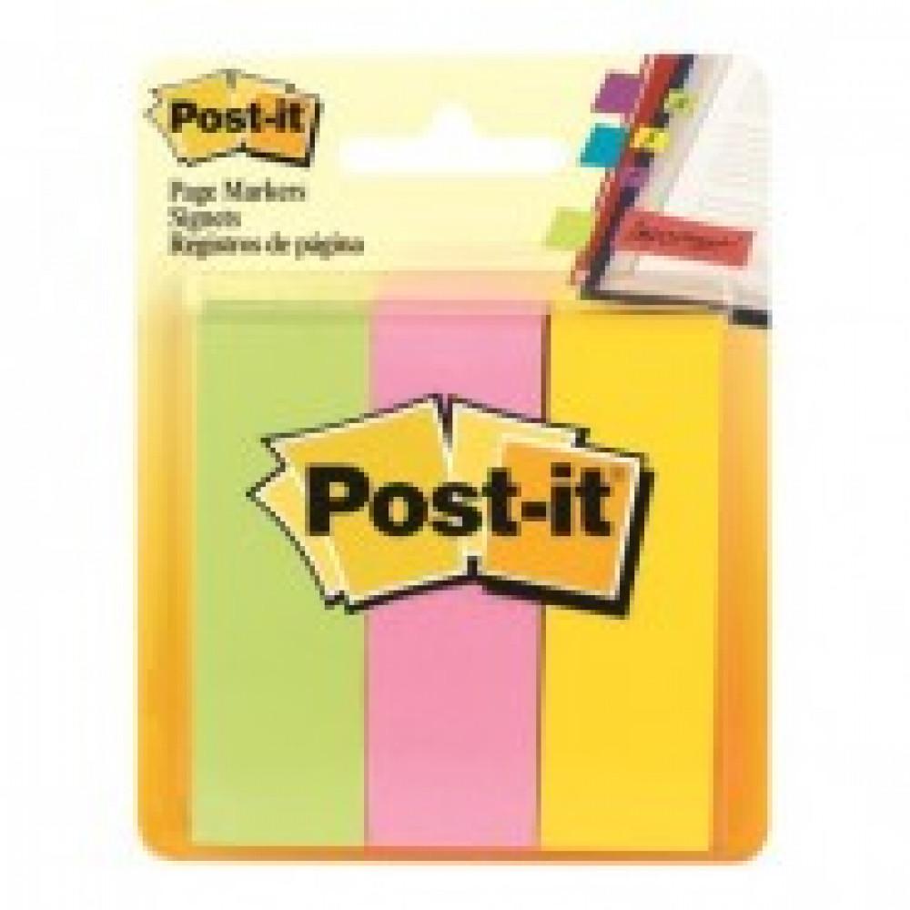 Клейкие закладки бум. 3 цв.по 100л.25х76мм Post-it ?671-3