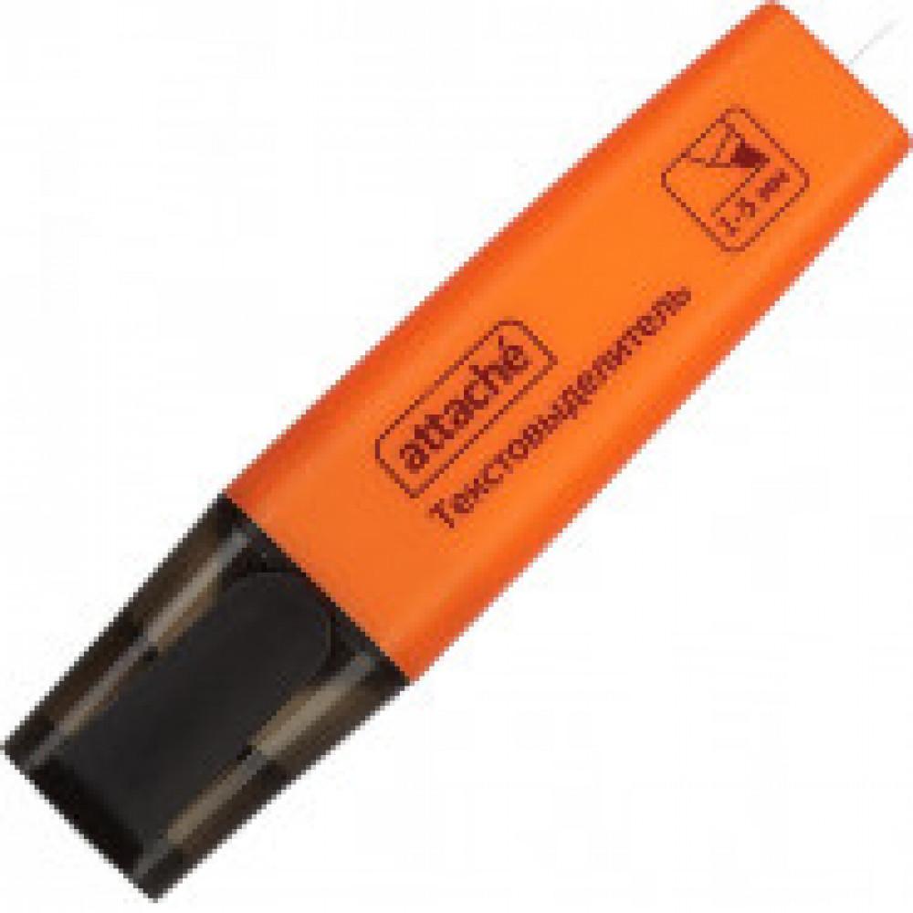Маркер выделитель текста Attache Colored 1-5мм оранжевый