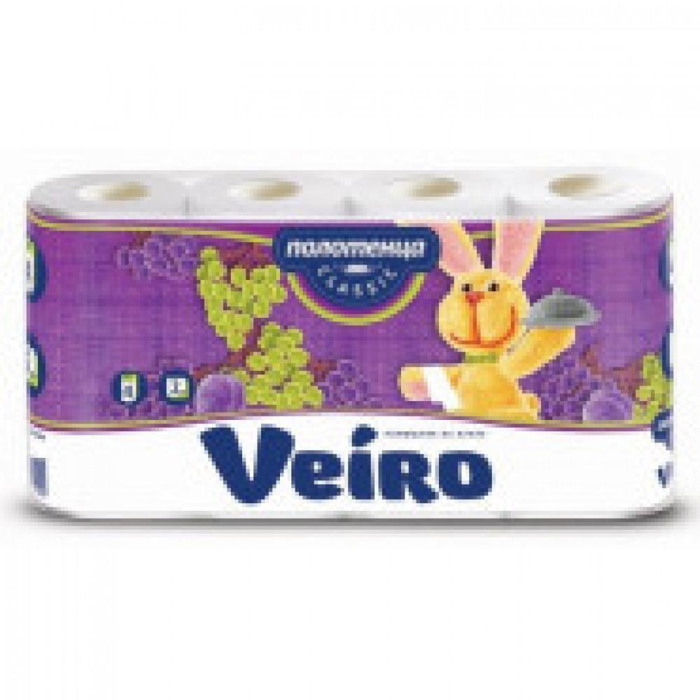 Полотенца бумажные VEIRO Classic 2-сл.,с тисн., 4рул./уп. 5п24