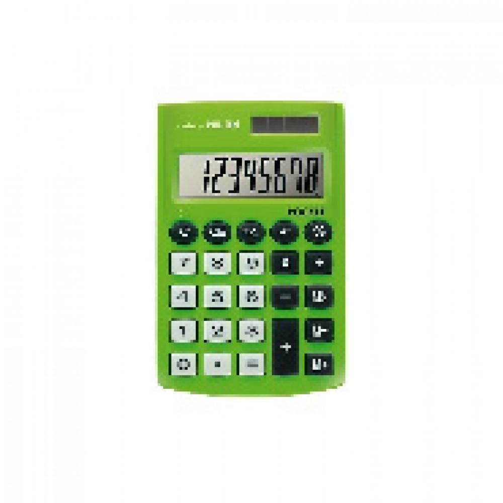 Калькулятор Milan 8-разряд, в чехле, двойное питание, салатовый 150908GBL