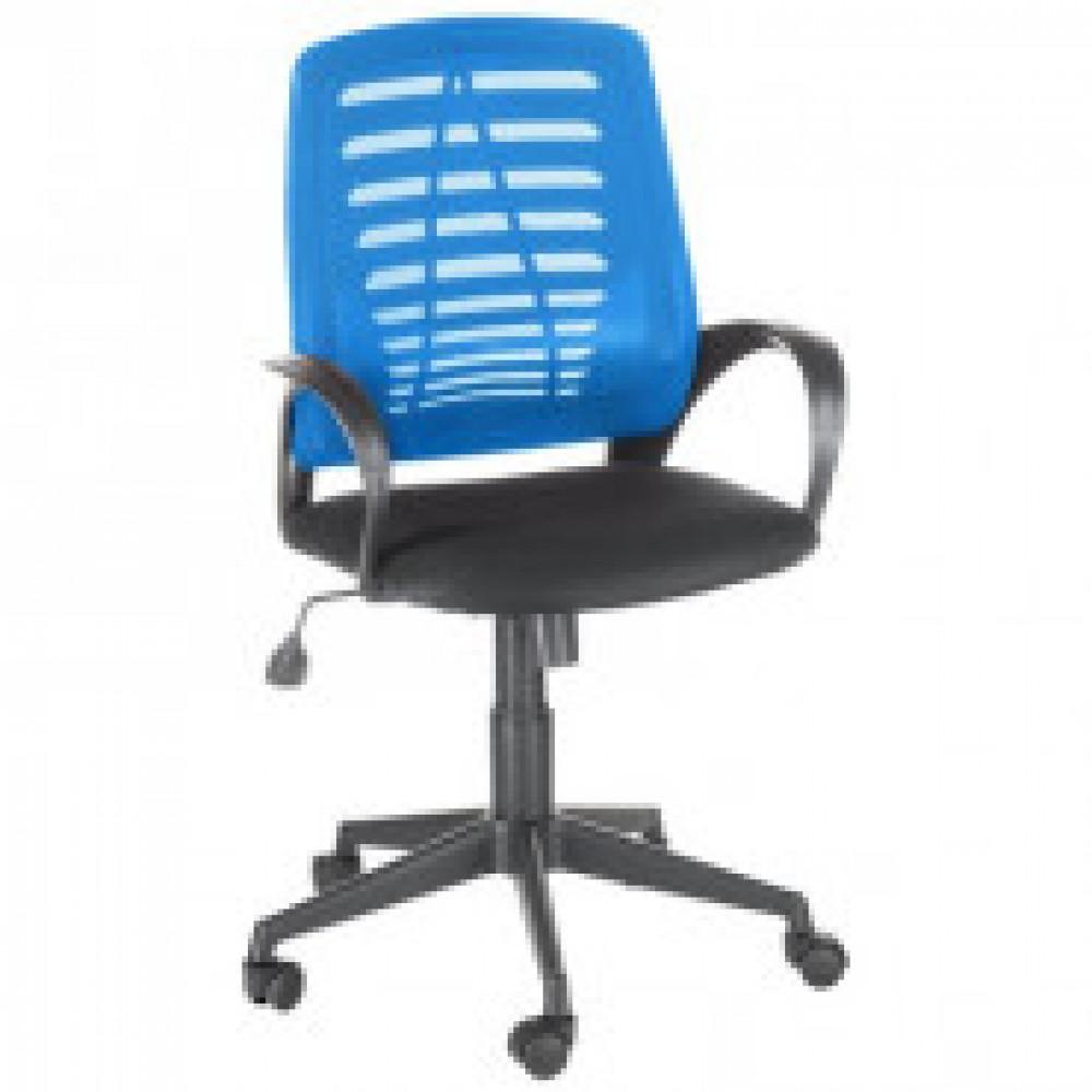 Кресло OL_Ирис сиденье черное TW/спинка синяя TW