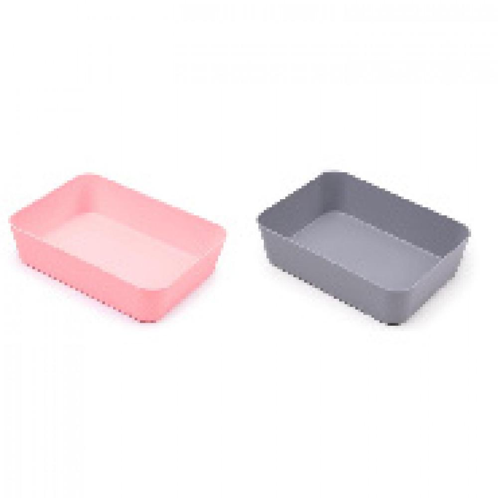 Лоток для канцелярских мелочей Attache Selection 2шт/уп розовый и серый