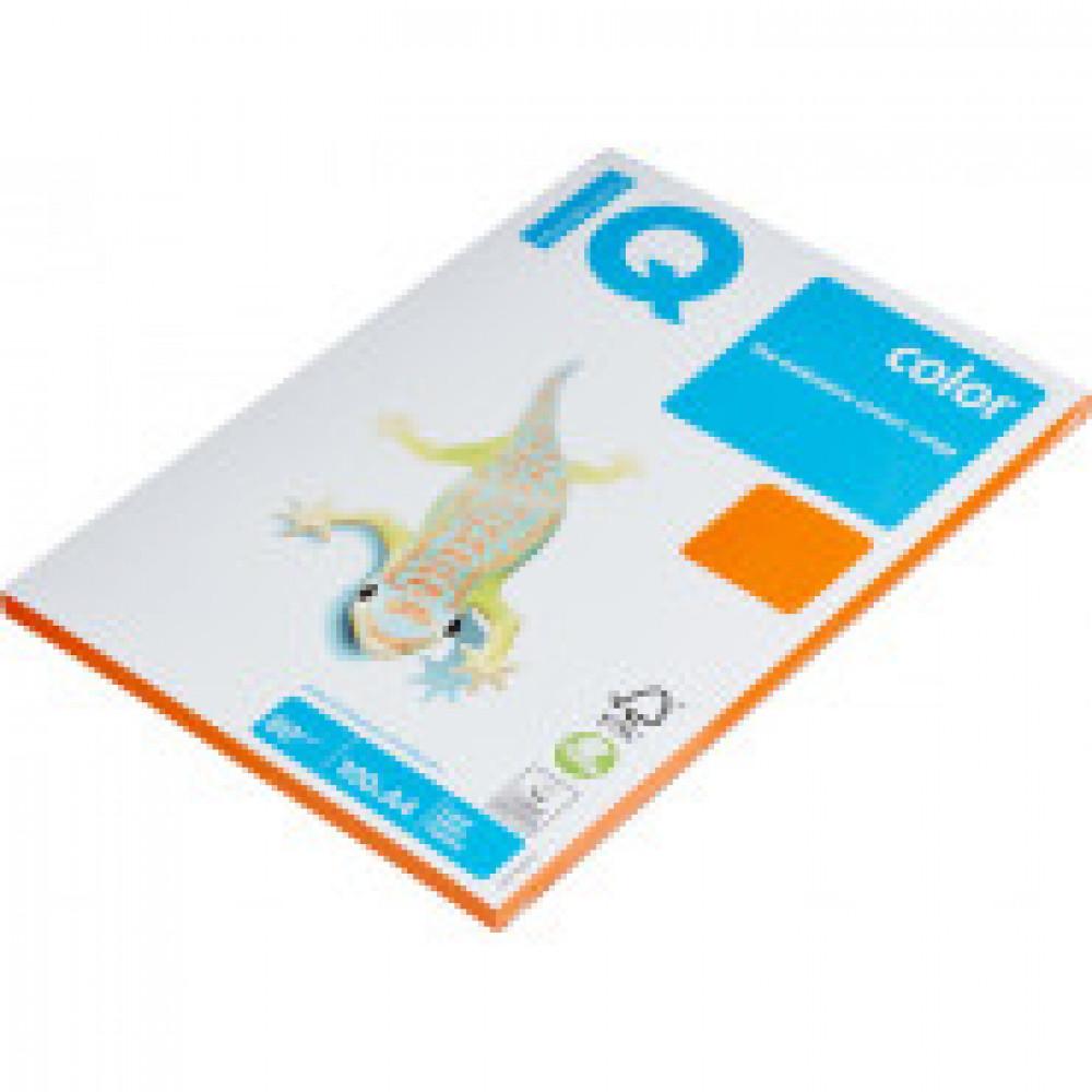 Бумага цветная IQ COLOR (А4,80г,OR43-оранжевый) пачка 100л.