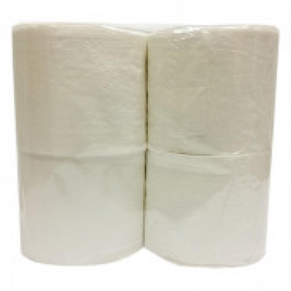Бумага туалетная 2-слойная белая 50 метров (4 рулона в упаковке)