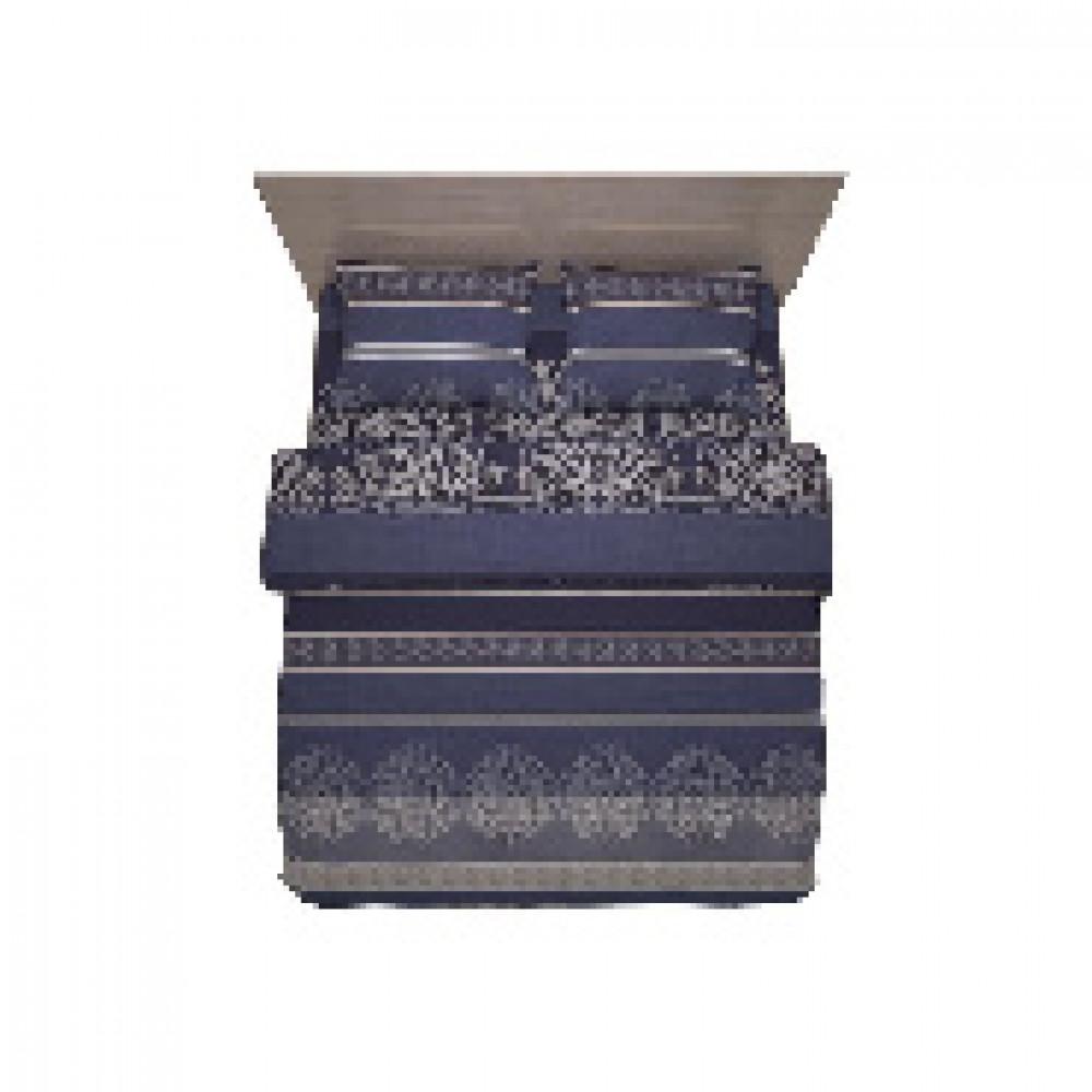 Комплект постельного белья 1,5 сп полисатин 60 гр/м2 Astoria синий