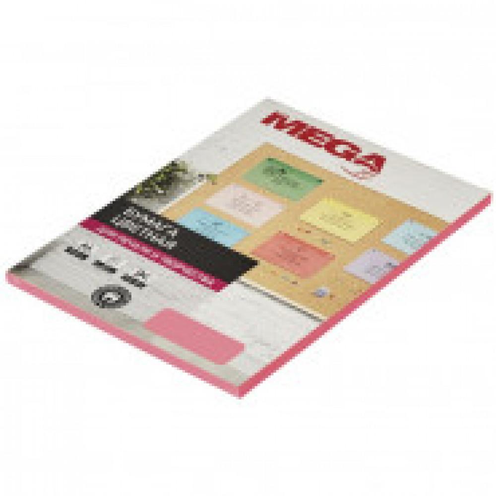 Бумага цветная ProMEGA Jet (А4,75г,розовый неон) пачка 50л