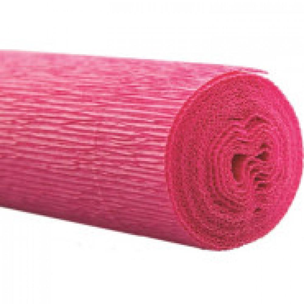 Бумага для творчества крепир.флорист. 50x250см,128г/м2,розовая,170509