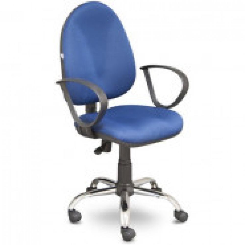 Кресло OL_EChair-201 PJP ткань синяя 15/3, хром