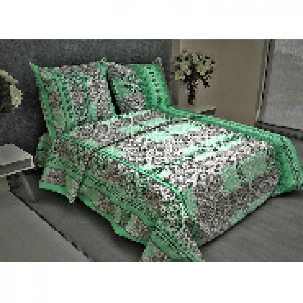 Комплект постельного белья 1,5 сп бязь 105 гр/м2 Кружево зеленый