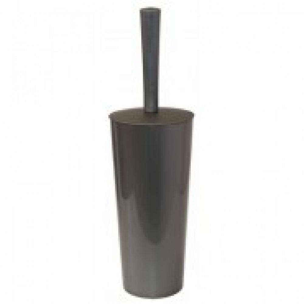 Ершик д/туалета закрытая колба пластик цвет - серый металлик