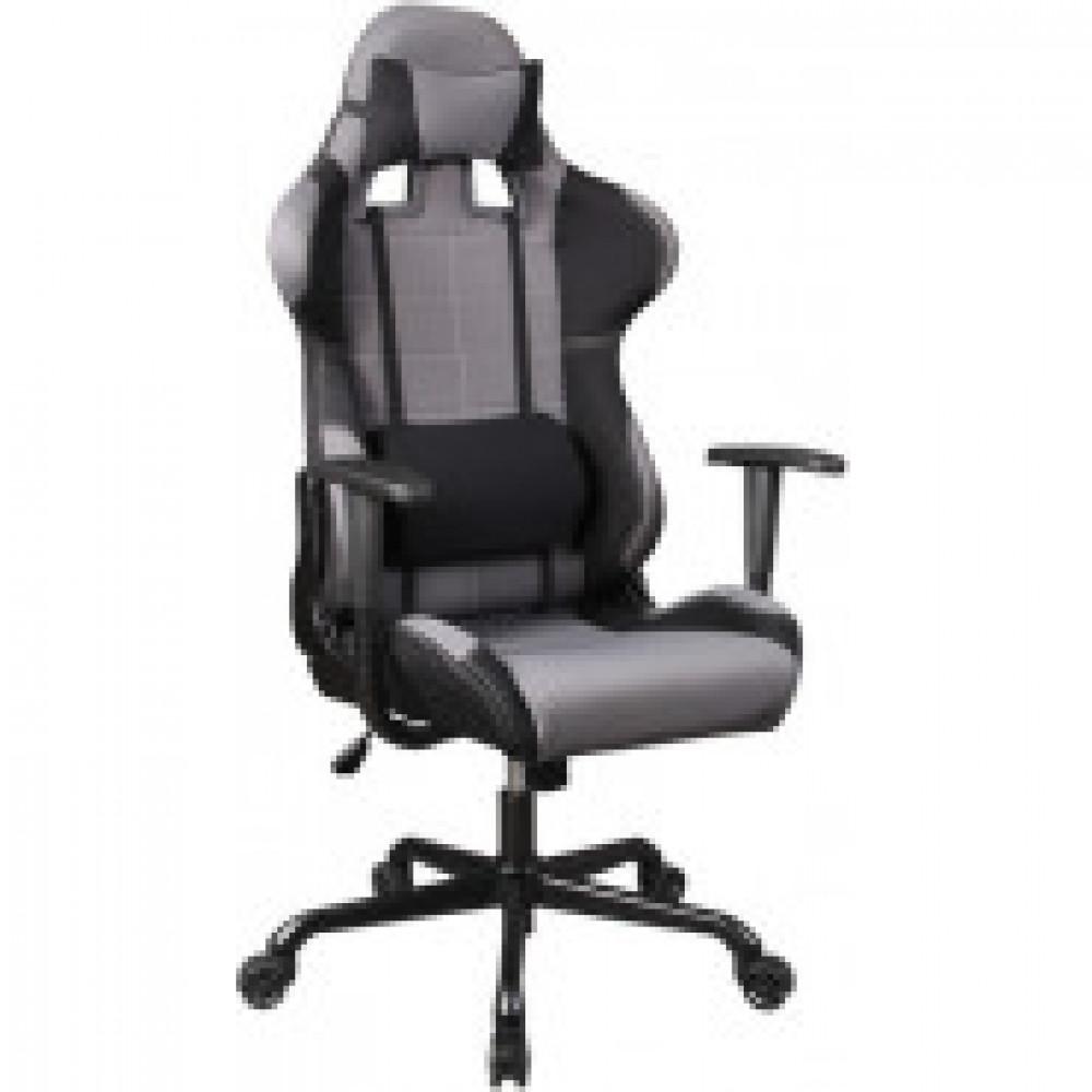 Кресло VB_Рук-ля 771/Grey+bl ткань черная/серая (812971)