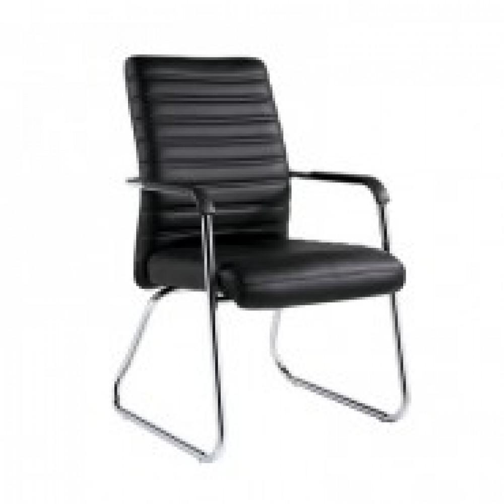 Кресло BN_TQ_конференц Echair-806 VPU кожзам черный, хром