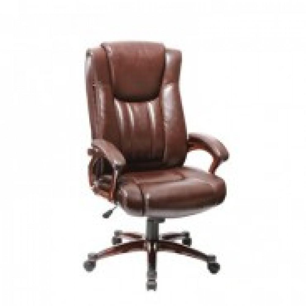 Кресло BN_Dt_Руковод. EChair-632 TR рец.кожа коричн, пластик