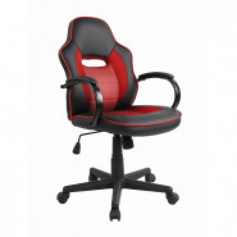 Кресло игровое Easy Chair 659 TPU черное/красное (искусственная кожа/пластик)