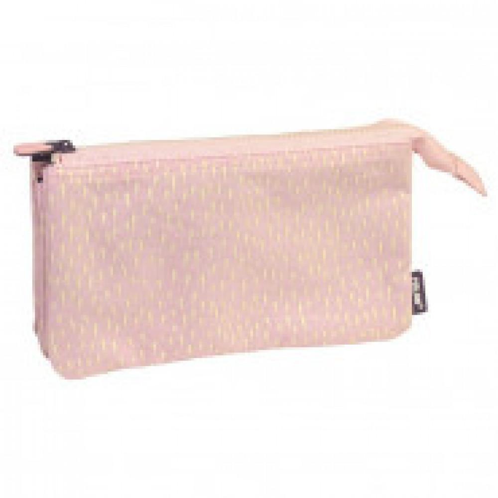 Пенал Berrywood 5 отделений, без наполнения, розовый, 22x12x4 см, 081133BP